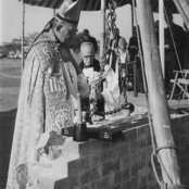 1954 - foundation - bishop paget blessing the foundation stone