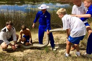 Rector's Dog Escapes Python at Dombo Dam 2019